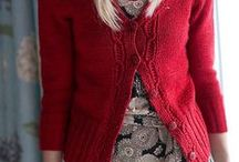 Red knit & crochet