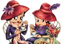"""༺༻ Red Hat Society ༺༻ / The Red Hat Society, a social organization founded in 1998 in the United States for women age 50 & beyond, now open to women of all ages.The founder of the Society, artist Sue Ellen Cooper, lives in Fullerton, Orange County, California. In 1997, Cooper gave a friend a 55th birthday gift consisting of a red bowler purchased at an antique store along with a copy of Jenny Joseph's poem """"Warning"""". """"When I am an old woman I shall wear purple. With a red hat that doesn't go and doesn't suit me"""".    / by ♥༺♥༺♥ The Lady Caroline ♥༺♥༺♥"""