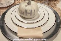 Tablescapes / Tablescape ideas and themes throughout the year