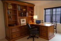 Mr. Stanley, Fairfield County, CT Interior Design / Fairfield County Business Owner, CEO and Executive commissioned a custom Home Office.  #Home Office #Custom Design and Finish #Desk