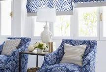 Blue Interior Design Inspiration. / I've never met a blue I didn't like! Indigo Blue. Sky Blue. Green blue.