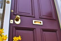 Front Doors / Welcome family, friends, neighbors!!  Farrow and Ball colors. @BenjaminMoore