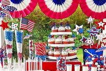 Holidays- 4th of July / Memorial Day / Whether you are planning a celebration for 4th of July or a get together for Memorial day, this is where you can find all the inspiration to organize your event.  It's red, white and blue all the way!
