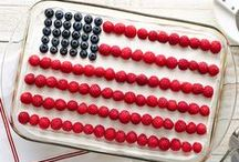 Red White & Blue Recipes / Patriotic desserts that will have you eating all things red, white and blue! Try them for the 4th of July, Memorial Day, Labor Day and from sea to shining sea.