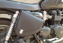 Live Free Motor Stylish - Bonneville saddlebags / #Bonneville #motorcycle #Triumph #Bobber #Motor #Passion #Luggage #saddlebags #Livefreemotorstylish #LiveFree