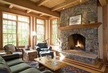 Greenfield Hills, Fairfield, CT / Fireplace. Fireplace surround.