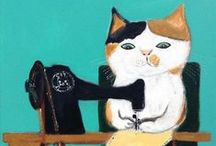 cats and sewing machines