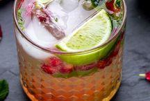 Juices, cocktails, drinks