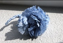 Handmade DIY Flowers / How to make flowers out of paper, fabric, ribbon, and even preserved! For all your crafting needs: think corsages, bouquets, floral headbands, necklaces, rings, clothing embellishment, the sky's the limit!