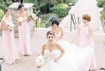 Pink Weddings / Pretty pink wedding inspiration, featuring bouquets, table settings, and dresses inspired by Donna Morgan's variety of pink bridesmaid dresses. / by Donna Morgan