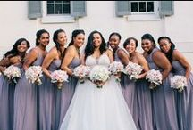 Purple Weddings / One of the most popular wedding colors for a reason! Browse our purple wedding inspiration, featuring different shades of Donna Morgan purple bridesmaid dresses. / by Donna Morgan