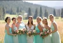 Mint Weddings / Bright and pretty mint wedding inspiration featuring Donna Morgan Spearmint bridesmaid dresses. / by Donna Morgan