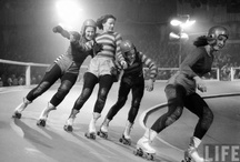 Vintage rollerskating & derby