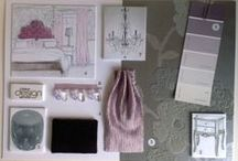Residential Client Schemes / Mood boards, sketches, plans & elevations for client schemes.