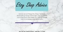Etsy Advice-Branding, Marketing, Traffic / Advice on all things Etsy Shop. Fantastic examples of shops done right, how to brand your shop from the inside out, and of course how to increase sales and traffic.