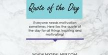 QOTD / Quote of the day: For all things inspiring and motivating!   Keywords: quotes, motivating, branding, branded voice, inspiration, small business