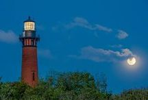 Currituck Beach Lighthouse / The Currituck Beach Lighthouse in Corolla, NC is a 162-foot, red-brick beacon that has been shining its light here since 1875.