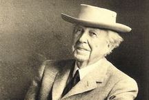 Frank Lloyd Wright / Frank Lloyd Wright (1867-1959) is recognized world-wide as one of the greatest architects of the twentieth century. His work heralded a new thinking in architecture, using innovation in design and engineering made possible by newly developed technology and materials. His creative ability extended far beyond the border of architecture to graphic design, furniture, art glass, textiles, and decorative elements for the home.