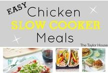 Recipes: Slow Cooker / Slow cooker recipes for any time of the day! Make an overnight breakfast casserole, or a tasty lunch, or a hearty dinner stew right on your countertop with a slow cooker! / by Chrissy {The Taylor House}