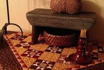 Primitive decor / furniture/decor / by Anna Quilting & Wool