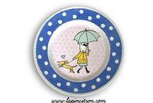 """Mes Créations """"Lapincitron"""" / Lapincitron est une marque déposée, crée en 2006. Je réalise moi même des objets faits-main, des pièces uniques ou des petites séries. Les matières que j'utilise sont le textile, le bois ou la céramique, je customise aussi des assiettes vintages avec des émaux que je dessine et qui sont fabriqués en France. Tout est Home Made et Hand Made en France évidemment ! Retrouvez sur Pinterest une sélection de mes produits."""