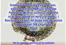 ☆ We are Here ☆      / Community board to share pics of places, events, and arts in YOUR city. Invite new Pinners too! We're all citizens of one planet, so let's get to know our world a bit better :-) Descriptions are best, but please note the location if nothing else. See y'all around! *Peace. *Not for spammers; spammers will be annihilated.