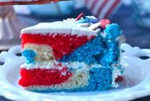 Fourth of July Party Food / Fourth of July Recipes | Desserts | American Flag and Red White Blue Ideas for a festive celebration! | See all our recipes at https://theseasidebaker.com/