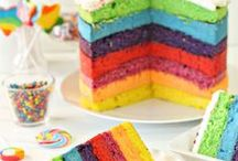 Rainbow Party / Rainbow Party Food and Ideas | Cake | Cupcakes | Perfect for a Rainbow Party Theme! | See all our recipes at https://theseasidebaker.com/