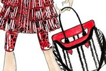 Alexander McQueen SS2014 / Designer Sarah Burton created an intense collection inspired by art with a vivid color palette of black, red and white. #AlexanderMcQueen #accessories #blackandwhite #red #heroine #bag #shoes #fashionshow #paris #spring #summer