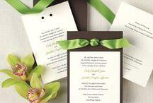 Bryllup - invitation og menukort