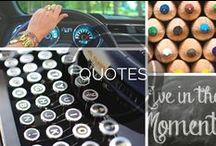 Inspirational Quotes / Zoom on over to see a collection of our favorite inspirational-and sometimes funny- quotes!