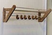 Вешалка в прихожую - Made in UKraine / Вешалка в прихожую из дерева и металла с деревянными крючками. Размеры: Ширина: 1000 мм; Глубина: 300мм; Высота: 360мм.