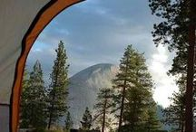 Pitching a Tent / Out in the wild and natural world.