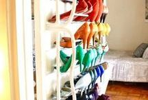 Fancy Shoe Storage / Shoes we love them but where can we put them. I have pinned a few ok loads of Shoe storage ideas for all the ladies who need to hide their collection. Hope they take your fancy. / by Fancy Shoe Land