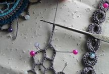 Needles and Hooks / crocheting and knitting
