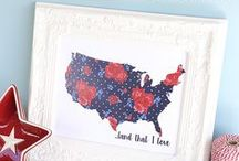 4th of July-Americana, Patriotic / All things American! DIY patriotic crafts, home decor, printables, and more. 4th of July decor
