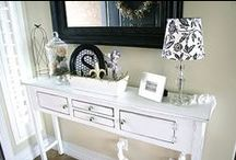 Entryways / Entry way decor, entry way tables, console tables. Home decor