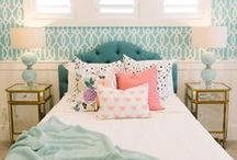 Bedrooms / Home decor with beautiful bedrooms, master bedrooms, and fun bedding ideas. Lovely headboards.