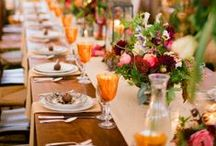 Wedding Tablescapes / Table layouts, place settings, napkins, florals, candles, chairs, plates and crystal.