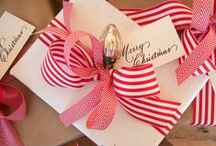 Christmas: gifting / Brown paper packages tied up with string...
