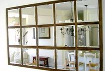 Mirrors / Mirrors brighten any room and here is a fabulous collection if many styles. / by Marie {Blooming Homestead}
