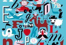 A L P H A B E T / Illustrated alphabets   alphabet designs