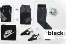 The Black Collection / The color black is always in! Check out our Black Collection which features our latest product all in a color that never goes out of style.  http://bit.ly/1dlqe76 / by Lady Foot Locker (Official)