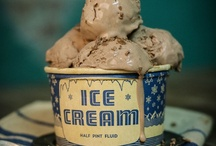 Ice cream, powder and pastels