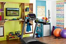 Home Gyms / Having a home gym makes it more convenient to keep healthy. Weather you have a lot of room to dedicate to your workout or just a small area, here are some great ideas. Enjoy!