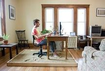 Home Offices / Whether you work from home or just need a place to keep the household organized, these home offices will surely inspire the manager in you. Enjoy!