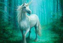 Unicorn Pegasus art / by Marleen Boersma