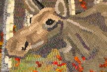 Rughooking Moose, Deer