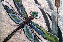 Rughooking Dragonflies, Butterflies, Bees
