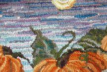 Rughooking Pumpkins